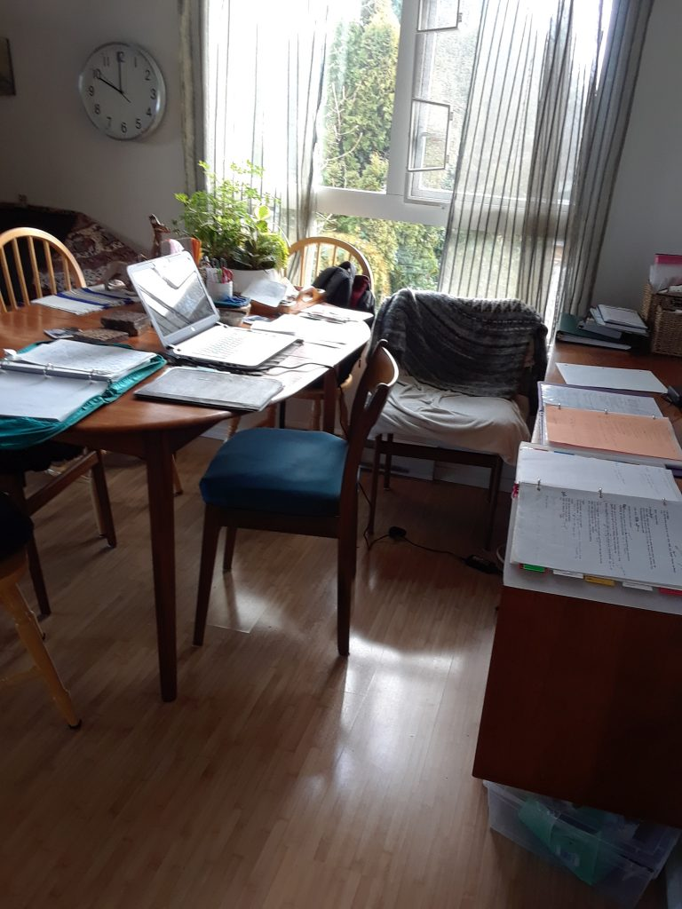 My writing table.